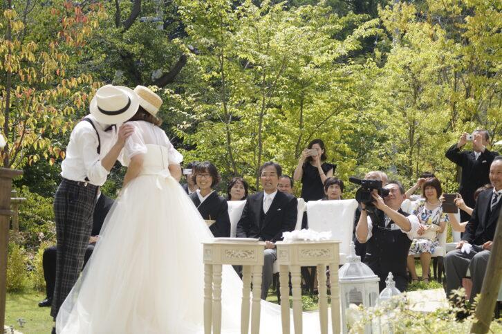 郡山市 結婚式場 記憶の森 ガーデン挙式 人前式