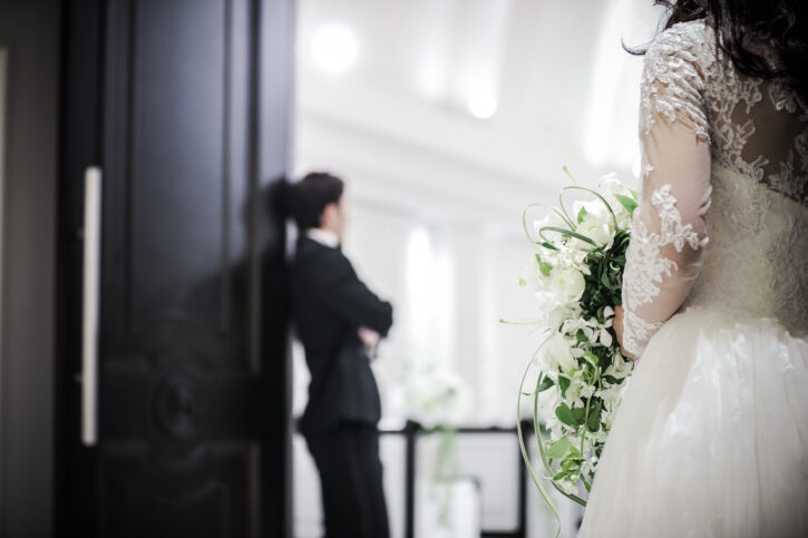 記憶の森 白ドレス 前撮り
